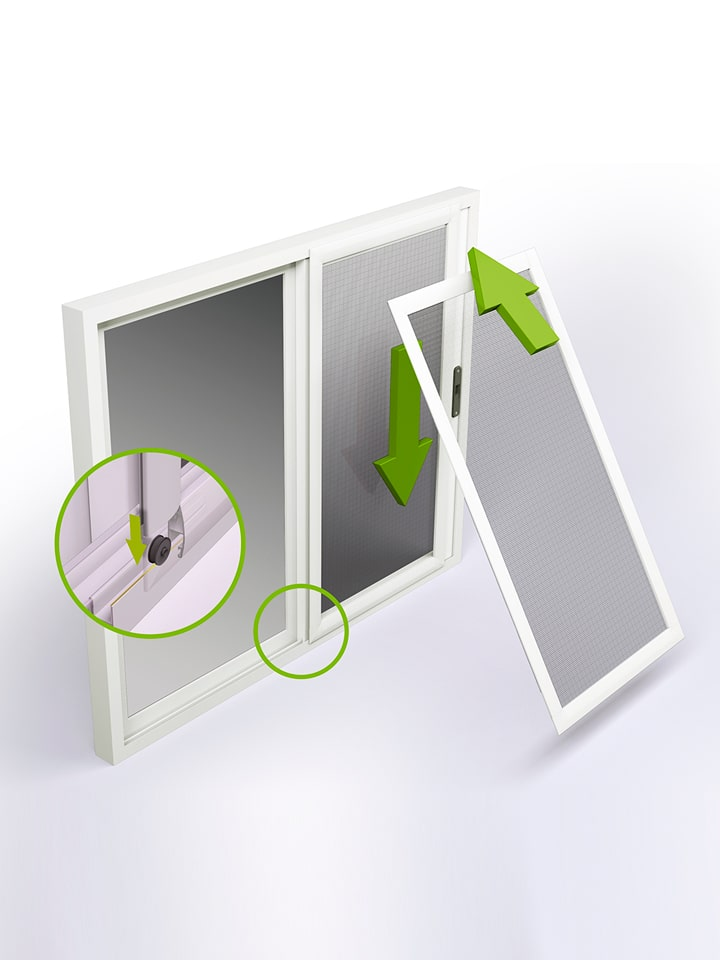 Mosquitera Corredera Antipolen Infografía 3D