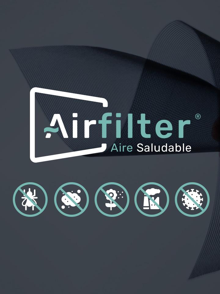 Mosquitera Enrollable Elite AIRFILTER propiedades airfilter